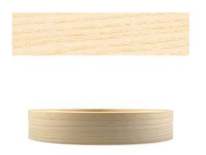 Mprofi MT® (10m Rolle) Echtholz Kantenumleimer Umleimer Furnier Esche SK mit Schmelzkleber zum Aufbügeln 22mm Breite