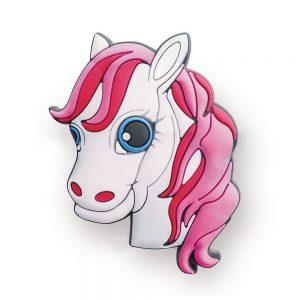 2 X Mprofi MT® Kindermöbelgriff Möbelgriff Möbelknopf Gummigriff Kinderzimmer Motiv Pferd