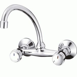 Mprofi MT® Wandarmatur Küchenarmatur Wasserhahn Küche Küchenspüle Spülbecken Chrom