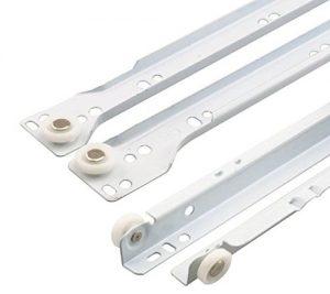 10 X Mprofi MT® (10 Paar) Schubladenschienen WEIß 450 mm Rollenführung Schubladenauszug Teilauszug