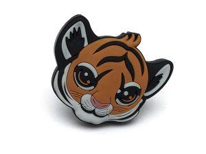2 X Mprofi MT® Kindermöbelgriff Möbelgriff Möbelknopf Gummigriff Kinderzimmer Motiv Tiger