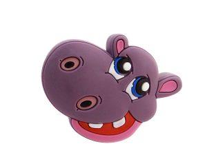 2 X Mprofi MT® Kindermöbelgriff Möbelgriff Möbelknopf Gummigriff Kinderzimmer Motiv Flusspferd