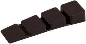 100 X Mprofi MT® Möbelkeile Unterlegkeile Ausgleichskeile aus Kunststoff mit integrierten Soll-Bruchstellen Braun