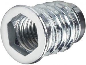 10 X Mprofi MT® Einschraubmuffen aus verzinktem Stahl mit Innensechskant Eindrehmuffe mit Abdeckrand M10x20mm